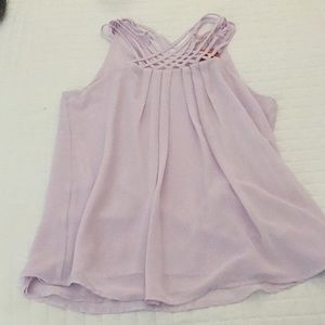 NWT: Adorable light purple flowy top.